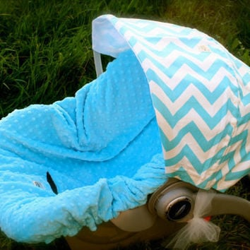 Infant Car Seat Cover Fits Graco Only Chevron by ChubbyBaby