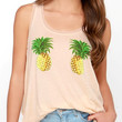 Peach-Colored Pineapple Sleeveless Tank