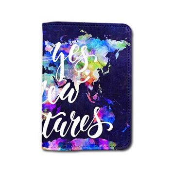 Cute Passport Holder Say Yes To New Adventures - Customized Travel Passport Covers - Passport Wallet_Emerishop