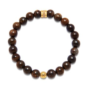 Men's Wristband with Ebony and Gold