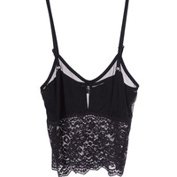 Heat It Up Crop Top - Black Lace