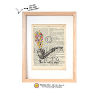 This is not a pipe dictionary print -Magritte tribute art print-Magritte on book page-Pipe print-Upcycled Dictionary art-by NATURA PICTA