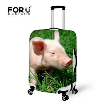 FORUDESIGNS Animal Pig Printing Elastic Luggage Dustproof Protective Covers Spandex Luggage Covers Suitcase for 18-30 inch Cover