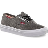 Vans Rope Lace Authentic Slim Womens Shoes - Black/True White