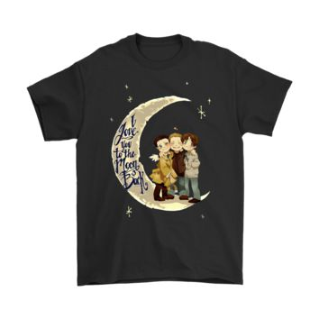 QIYIF I Love You To The Moon And Back Supernatural Shirts