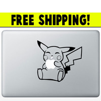 "Pikachu Macbook Decal Pokemon Sticker Apple MacBook Pro Air Mac 13"" inch Laptop Computer"