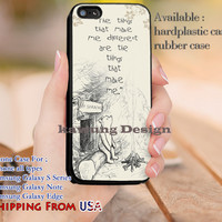 Make Me Different Winnie the Pooh Quote iPhone 6s 6 6s+ 5c 5s Cases Samsung Galaxy s5 s6 Edge+ NOTE 5 4 3 #quote dl12