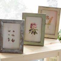 Vintage Weathered Photo Frame Rack Home Decor [6282380550]