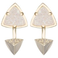 Kendra Scott Brindley Iridescent Drusy Jacket Earrings