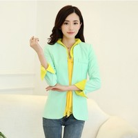 Women : Elegant blazer with chiffon scarf and cuffs YRB0342