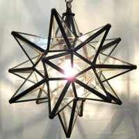 Moravian Star Light Fixture, 18""