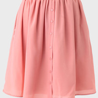 Crossing Paths Buttoned Skirt