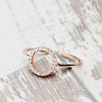 Shashi Rhinestone Circle Ring