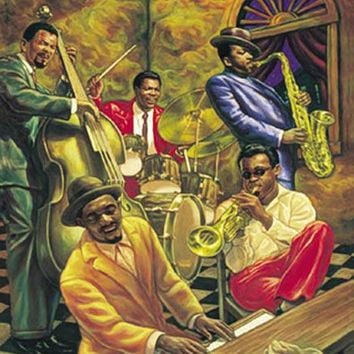 Cool Jazz African American Music Poster Home Decor Wall Art Sarah Jenkins