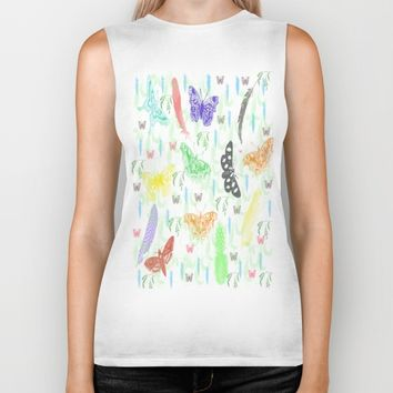Butterflies Feathers and Vines Biker Tank by Scott Hervieux | Society6