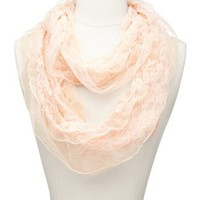 Mesh Trim Lace Infinity Scarf: Charlotte Russe