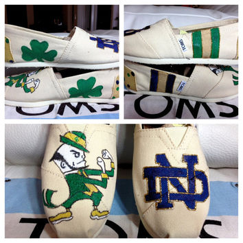 Notre Dame TOMS Vans Keds or Converse by SolelyYoursShoes on Etsy