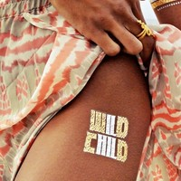 Flash Tattoos Child of Wild Temporary Tattoos in Metallic