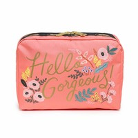XL Rectangular Cosmetic Hello, Gorgeous Print by LeSportsac | Imported