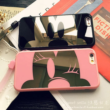 Stylish Iphone 6/6s Cute On Sale Hot Deal Iphone Apple Couple Soft Mirror Phone Case [8383659399]