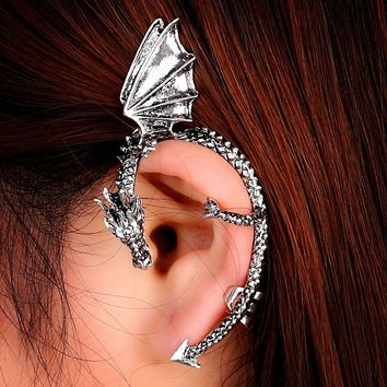 Personality Retro Gothic Gothic Punk Dragon Ear Pierced Earrings Without Pierced Ears