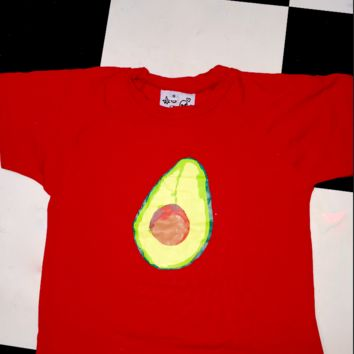 SWEET LORD O'MIGHTY! OG AVOCADO CROP TEE IN RED