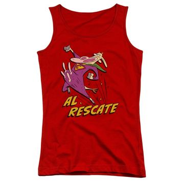 24cf9f7ce0ccf5 Cow And Chicken - Al Rescate Juniors Tank Top