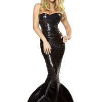 Black 2pc Mermaid Mistress Costume
