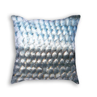 Silver Fish Scales throw pillow