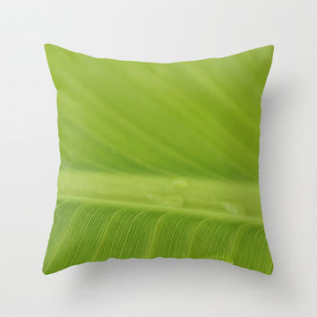 Banana Leaf Pillow, Weather Resistant Pillow, Outdoor Patio Furniture, Green