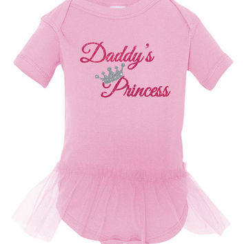 Daddy's little princess bodysuit,  baby gift,  Father's Day gift,  Daddy's first Father's Day,  Daddy's little girl