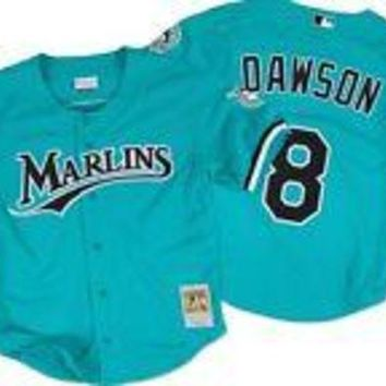 ONETOW Mitchell & Ness Men's 1995 Andre Dawson #8 Mesh Batting Practice Jersey
