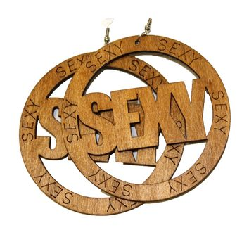 Large Sexy Wood Earrings