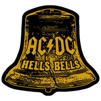 AC/DC Men's Hells Bells Cut Out Woven Patch Black