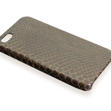 iPhone 5S case - brown python