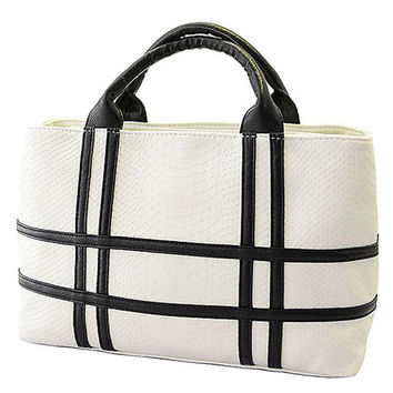 Temperament Stripe Shoulder Bag