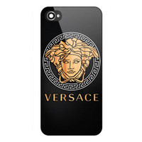 Versace001 Logo Wood Carbon Custom Design For iPhone Case Cover
