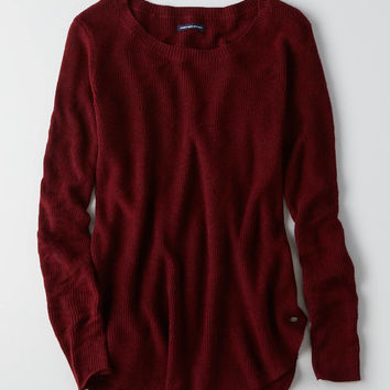 AEO Crew Jegging Sweater, Burgundy