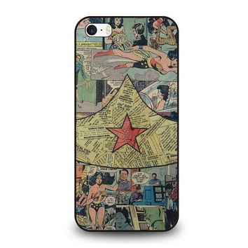 wonder woman collage iphone se case cover  number 1