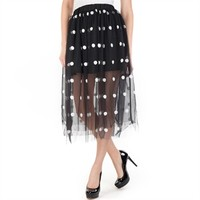 Freeway Women's Contemporary Polka Dot Mesh Skirt at Von Maur