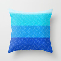 Boards&Fins Throw Pillow by Titus Ruiz