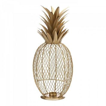 Gold Lace Pineapple Candle Holder