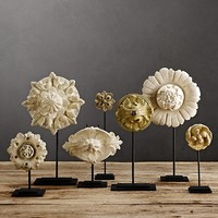 Architectural Ornaments on Stands (Set of 7)