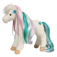Rainbow Princess White Horse with Brush