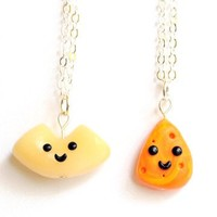 Handmade Macaroni and Cheese Best Friend Necklaces or Bracelets
