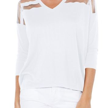 Michael Stars Sheer Stripe Sweater | Nordstrom