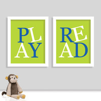 Playroom Print Set - Children Playroom Art - Nursery Sign - Nursery Print - Play Room Print