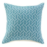 Blue And White Knots Throw Pillow