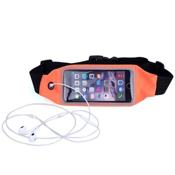 Sports Outdoor Gym Waist Phone Case For iPhone 6 6s For iPhone 7 Card Holder Earphone Hole Belt Running Wallet Bags