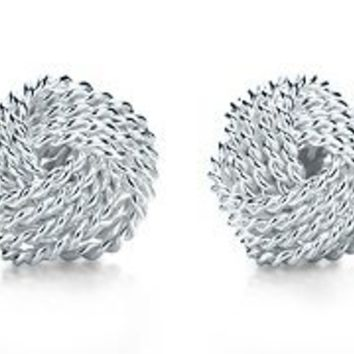 Tiffany & Co. | Item | Tiffany Somerset? knot earrings in sterling silver. | United States
